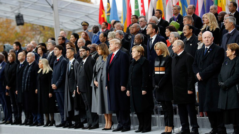 World+leaders+on+Sunday+gathered+in+Paris+to+mark+the+100th+anniversary+of+the+end+of+World+War+I.
