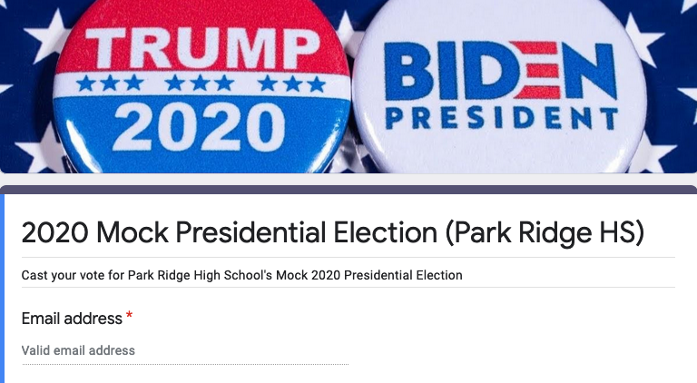 PRHS Mock 2020 Presidential Election
